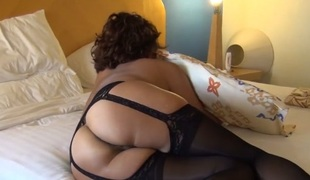 MATURE ASIAN WIFE IN Dark LINGERIE