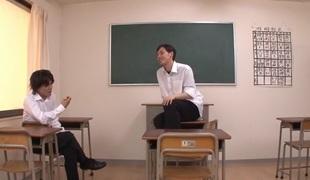 Fantastic Japanese whore Yui Oba in Incredible stockings, couple JAV scene