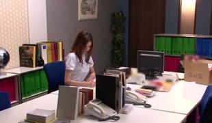 Crazy Japanese slut Rola Takizawa in Awesome secretary, masturbation JAV scene