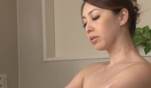 Fabulous Japanese chick Yumi Kazama in Best milfs, showers JAV clip