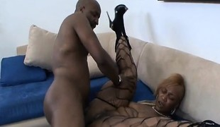 Wild ebony plumper with a massive booty Honey loves them large and black