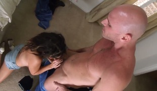Daisy Haze opens her love box to take Johnny Sins s ram rod