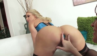 Bodacious doll Anikka Albrite is slutty as hell in lesbian action with Dana DeArmond