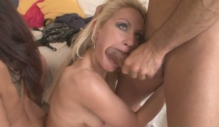 Mike Angelo explores the depth of fuck crazed Anita Henghers back yard with his man meat after she gives throat job
