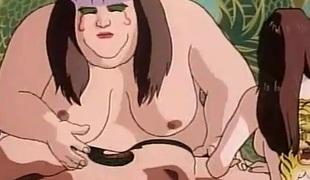 Huge hentai beauty gives a sensual nude massage