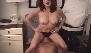Sexy femdom dirty talk and facesitting action