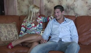 Horny Blonde Mom Holly Halston Fucks A Youthful Stud