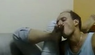 Dominating teen gal making my lick her smooth tender soles