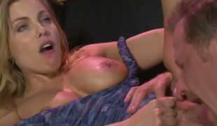 Well shaped blonde mommy Brittany Amber got her fanny tickled and licked properly