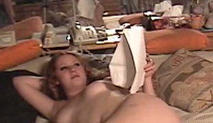 Aged plump geek fucks spoield red haired GF Cherry Poppens in bed