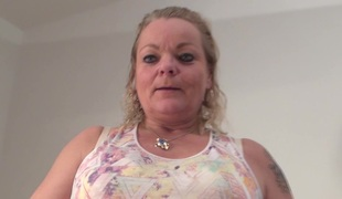 Chubby Eva is one of these grannies who love the hard masturbation
