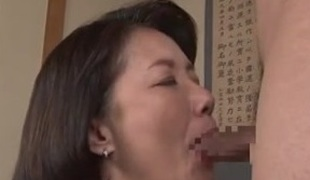 Big-titted Japanese milf in a hardcore act