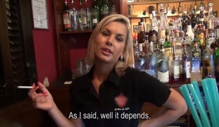 A barmaid teaches you how to drill her kind