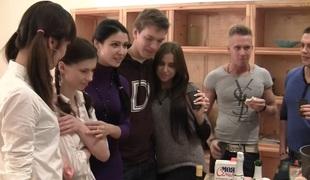 Elizabeth & Kamila & Marya & Sabina Gruda & Tanata in sexy student beauty receives fucked in a hardcore video
