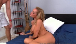 hd milf store pupper blonde blowjob