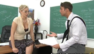 store pupper blonde blowjob facial moden