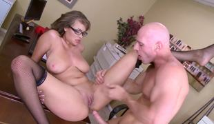 Office floor fucking of huge boobs babe Cassidy Banks