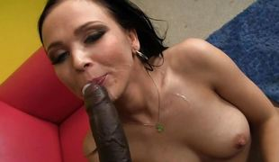 Cock loving Ally Style gets interracial cramming