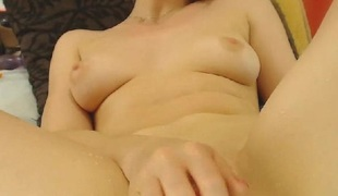 Hot Golden-haired Masturbates her Wet Pussy until she Squirts