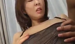 Ryo Hirase Asian doll in three-some gets felt up and ban