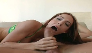 Christian is one hard-dicked guy who loves oral sex with Brunette vixen Riley
