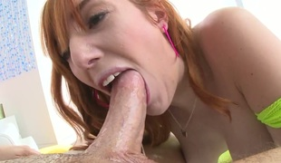 Lauren Phillips makes chap happy by blowing his stiff snake