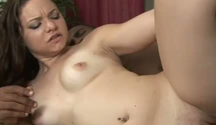 Latina Leenuh banged brutally in a doggy style in hardcore interracial porn movie scene