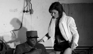 Sexy white bitch in boots gets screwed by a big black penis
