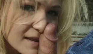 Rod hungry blonde wench gives a blowjob and gets booty fucked