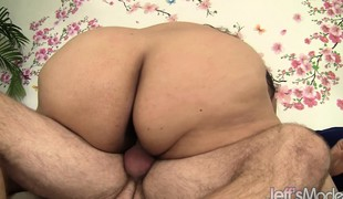 Curvaceous Lorelai surrenders her hungry peach to a throbbing stick