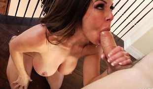 Buxom milf Kendra Craving has a younger guy licking and banging her cunt