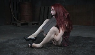 Spanked submissive Violet Monroe tormented