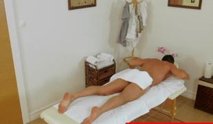 Asian masseuse sixtynines client for specie tip