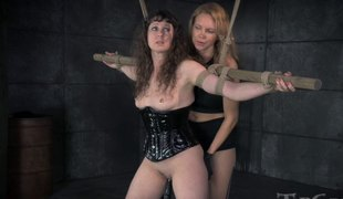 Mistress with a strap-on penetrates the beaver of her thrall