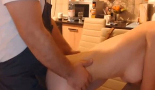 Banging my sexy active wife from behind in the kitchen