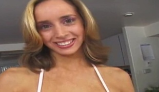 Kinky MMF threesome starring luscious blonde hottie Kelly