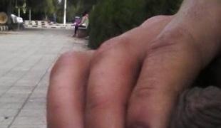 Jerking in the public street