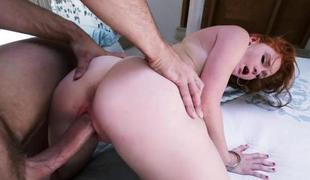 Hard shaft makes soaked slit explode from orgasms
