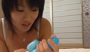 Japanese AV Model rides pecker in superb POV show