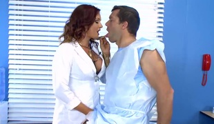 Busty doctor Tory Lane acquires banged hard by her patient
