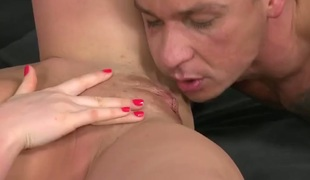 Sabby acquires his always hard fuck stick sucked by Brunette hair Tony with phat ass and shaved cunt