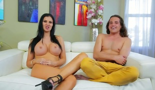 Jasmine Jae with huge melons knows that hard fuck with Tyler Nixon is the only thing that can make her feel better