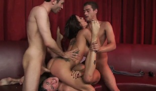 Gia Dimarco Romi Rain and James Deen Xander Corvus show their love for pussy licking