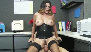 Naughty milf has sex in office