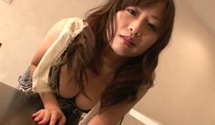 Nozomi Hatsuki gets fatty pussy creampie after hardcore fuck session