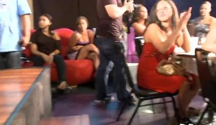 Sexy ladies cant just watch this stripper shake his ass