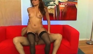 Asian hottie in high heels and nylons Charmane gets fucked hard