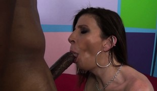 Lustful cougar with biggest whoppers Sara Jay acquires drilled by a black bull