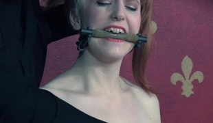 Pierced sub trampled and spanked