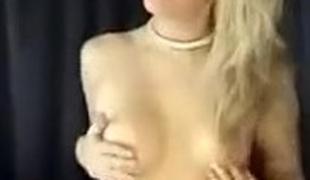blonde høyskole solo webkamera rett
